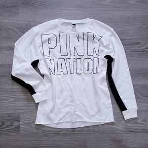 VS PINK Oversized Pullover Sweatshirt